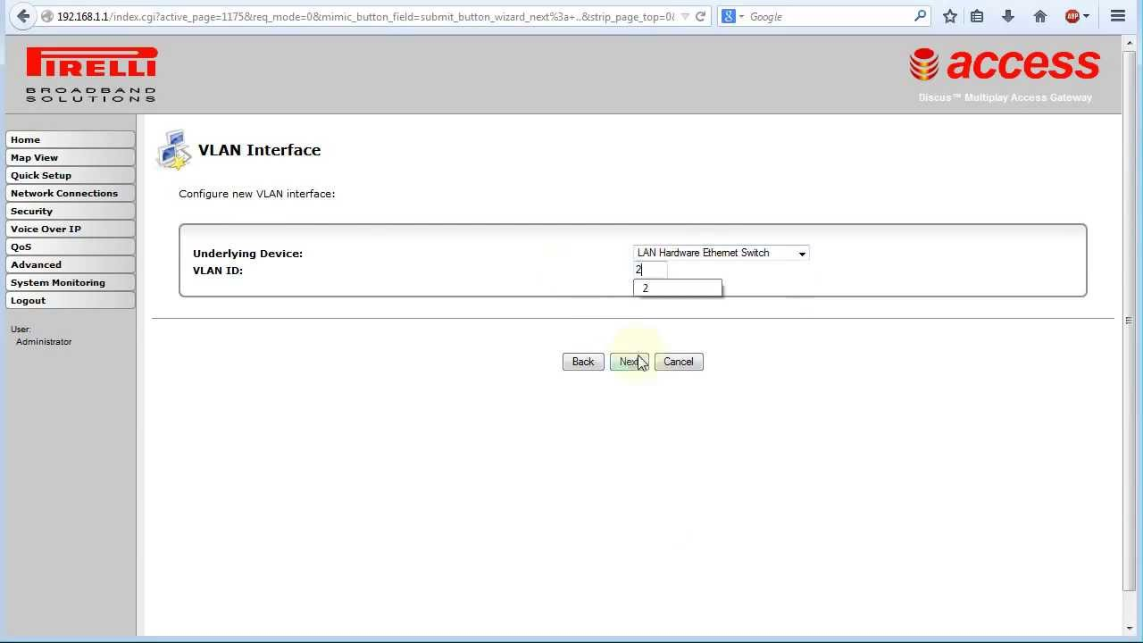 Guida creare porta wan ethernet su router pirelli dis - Porta wan router ...
