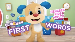 Learn First Words with Cute Puppies in Learn & Laugh App for Kids