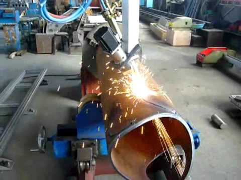 HoneybeeCNC metal pipe cutting machine video