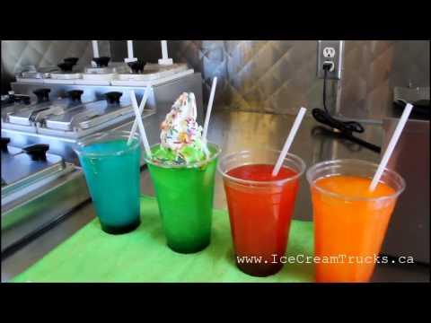 How is Ice Slushy made - Ice Cream Truck in Toronto