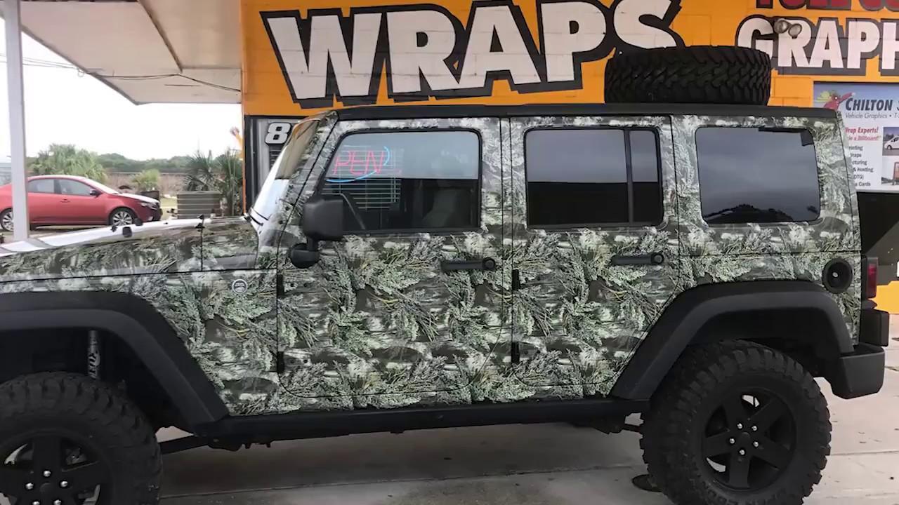 Camo Jeep Wrap Youtube