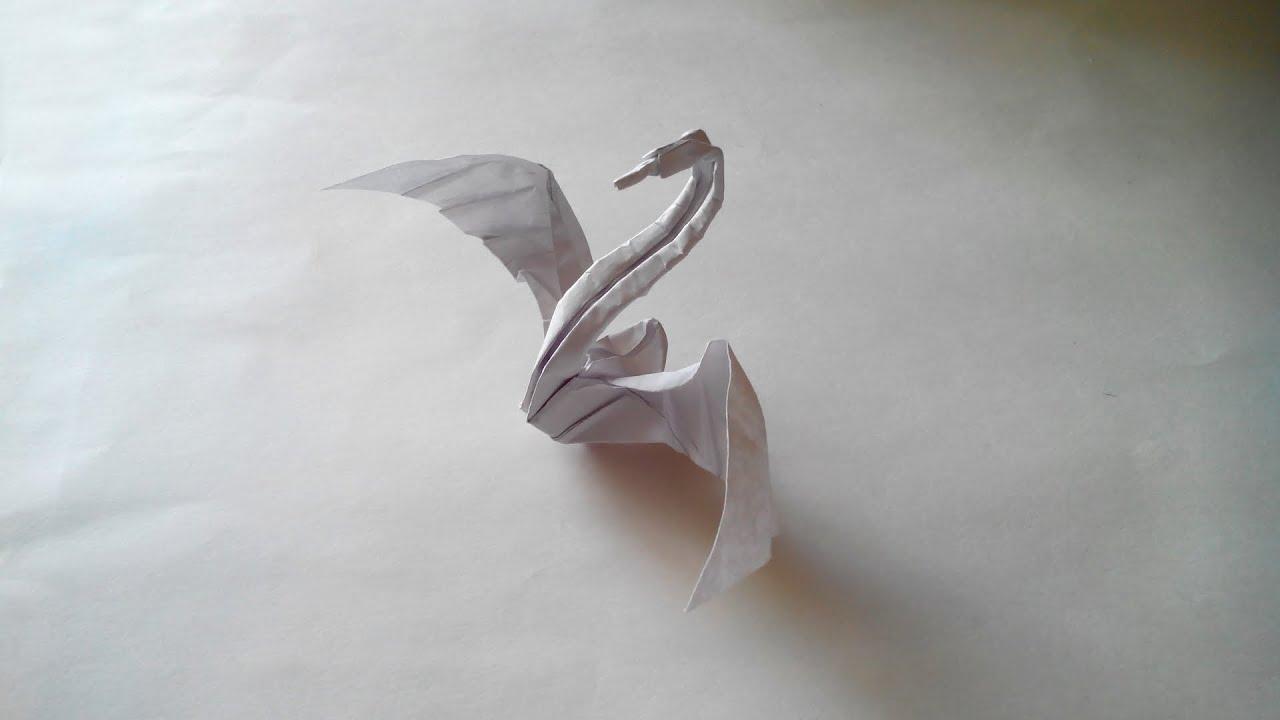 Как из бумаги сделать лебедя фото 899