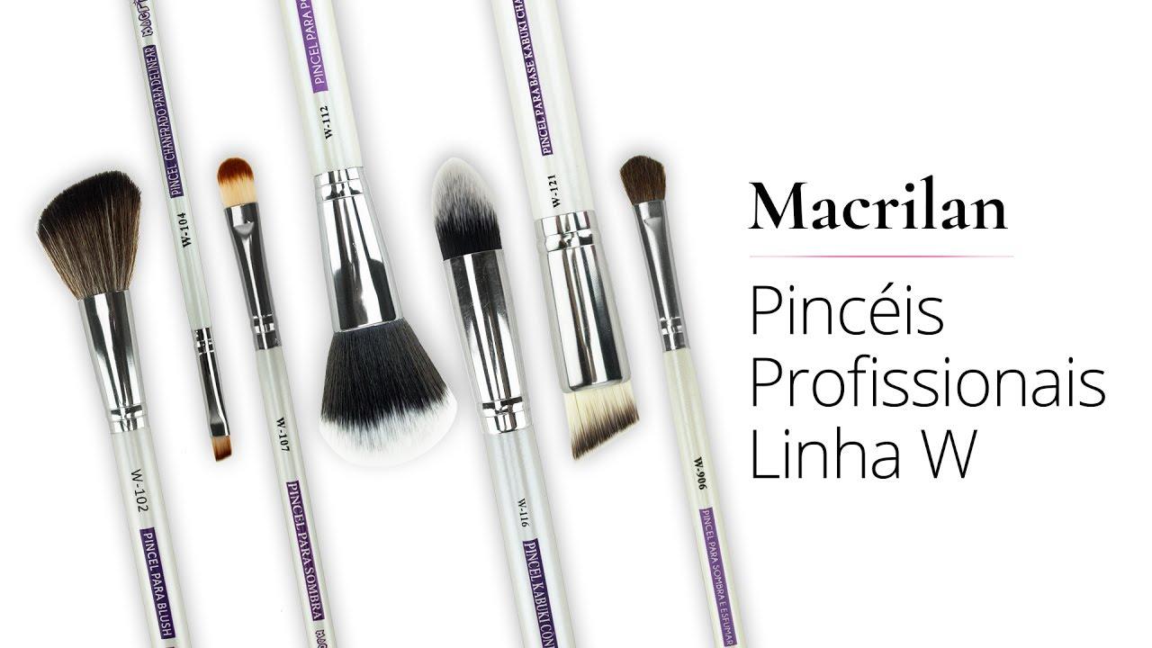 MinutoMaquiADORO Kit de 7 Pincéis Profissionais Linha W Macrilan by Luiza  Rossi 6afdc10116
