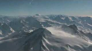 Flying over Andes Mountains