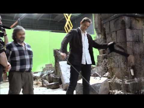 LEE PACE/THRANDUIL - Hobbit BTS (End of Principal Photography)