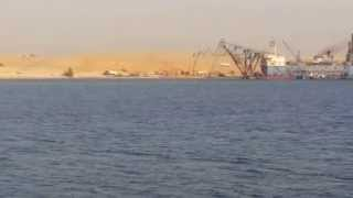 Exclusive video for the first moments of the new Suez Canal dredging