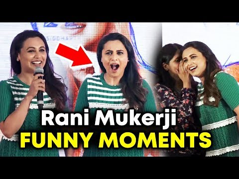 Rani Mukerji FUNNY MOMENTS | Oye Hichki Song Launch | Hichki