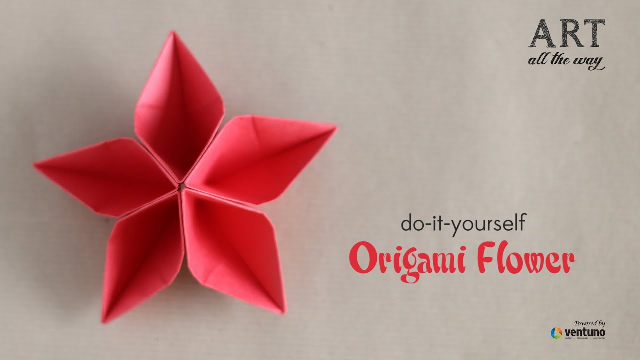 How To Fold Origami Flower Do It Yourself Youtube