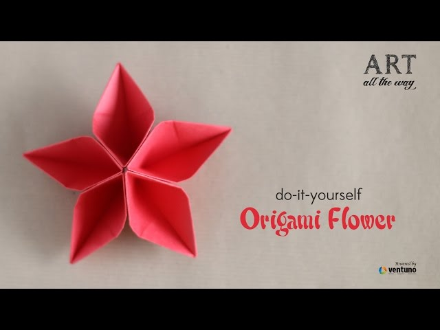 How to Fold : Origami Flower | Do It Yourself