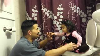 Potty training with daddy