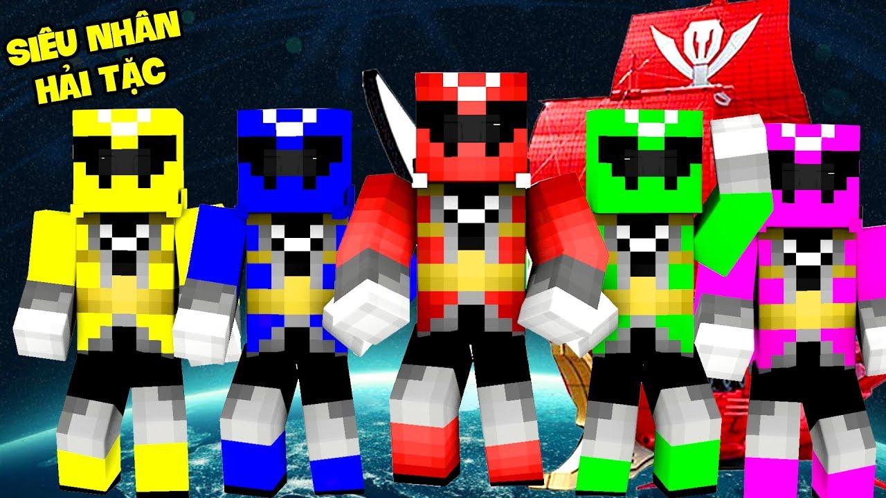 PHÁT HIỆN TÀU HẢI TẶC DƯỚI BIỂN | Tập 1 (Minecraft Siêu Nhân Hải Tặc)
