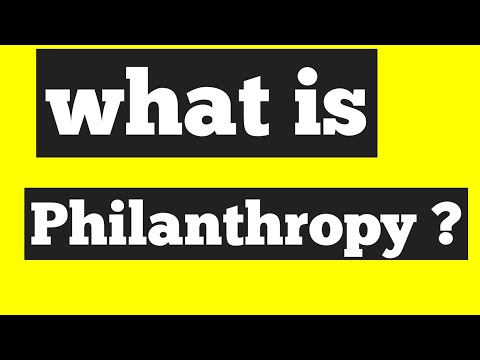 What is philanthropy? In Hindi/what ?