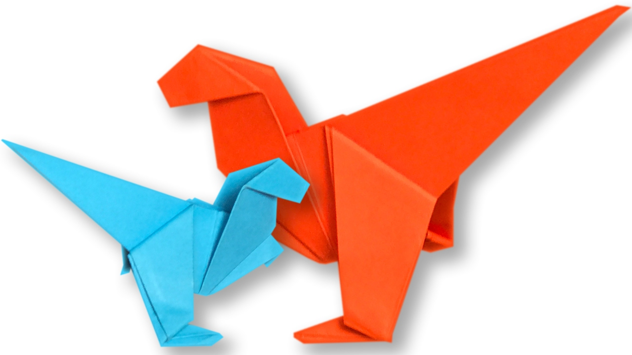 How To Make An Origami Dinosaur Step By