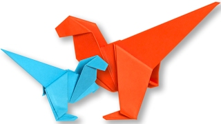 How To Make an Origami Dinosaur Step by Step | Paper Easy Dinosaur Tutorial | Origami VTL