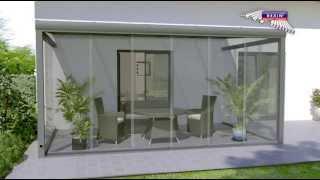 glasschiebewand auf terrasse als windschutz montageanleitung. Black Bedroom Furniture Sets. Home Design Ideas