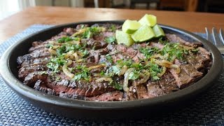 Grilled Mojo Beef Cuban-Inspired Marinated Skirt Steak Recipe