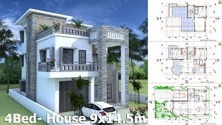 Video Sketchup House Plan 9x14.5m With 4 Bedrooms download MP3, 3GP, MP4, WEBM, AVI, FLV Desember 2017