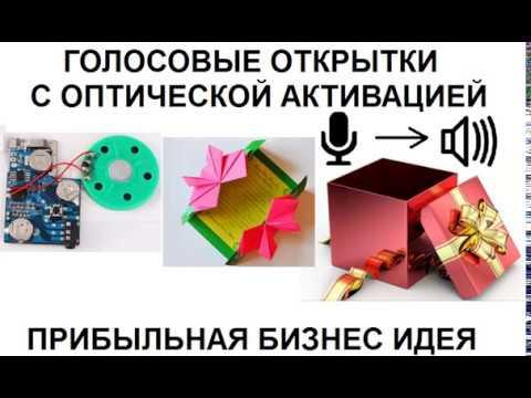 Голосовые Открытки с оптической активацией Прибыльная бизнес идея