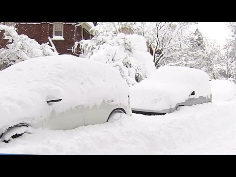 Christmas storm buries Erie County, Pennsylvania in snow