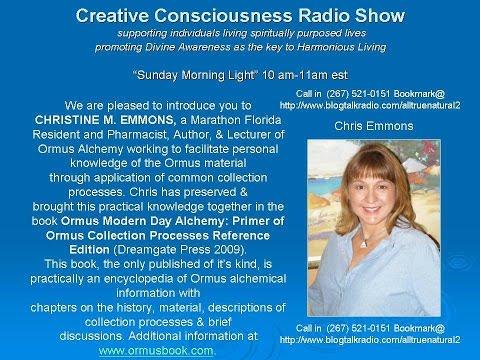 Creative Consciousness Radio Show Live Chris Emmons Extended  2-22-2015 Marathon Florida