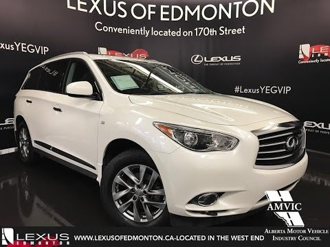 Used 2015 White Infiniti QX60 AWD Walkaround Review | Airdrie Alberta