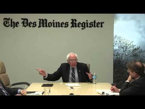 Bernie Sanders meets with The Des Moines Register Editorial Board
