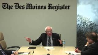 Full interview: Bernie Sanders meets with the Des Moines Register's Editorial Board Democratic presidential candidate Bernie Sanders talks with The Des Moines Register Editorial Board in Des Moines on Thursday, December 31, 2015.