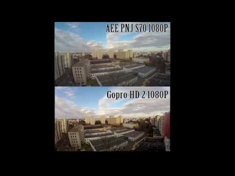 GoPro HD 2 VS AEE S70 ! sport cam Comparison !!! hard test !
