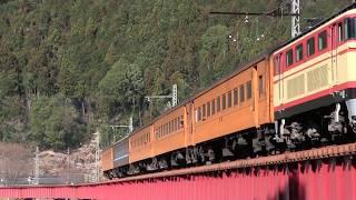 大井川鐵道 E32+E34重連牽引 EL急行すまた号 【元・西武E31型】