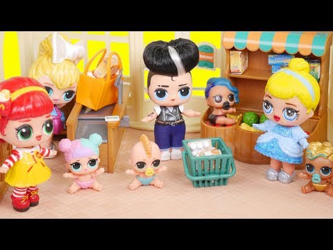 LOL Surprise New Shopkins Grocery Store Dolls with Barbie Ambulance Goldie