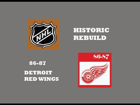 NHL HISTORIC REBUILD FT 1986-87 DETROIT RED WINGS