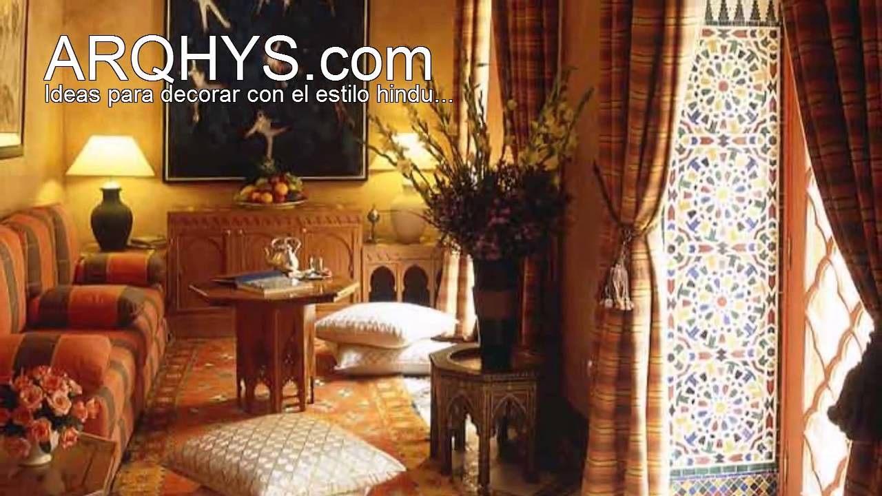 Ideas para decorar con el estilo hindu - YouTube