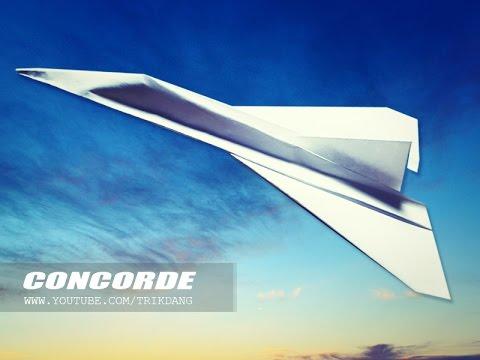 Papercraft 如何使一個紙飛機- 紙飛機教學- 摺紙飛機- 摺紙 | Concorde