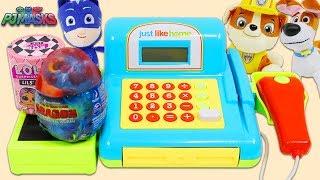 Paw Patrol Rubble, PJ Masks Catboy, & SLoP Max Buy Surprise Toys at the Cash Register Playset!