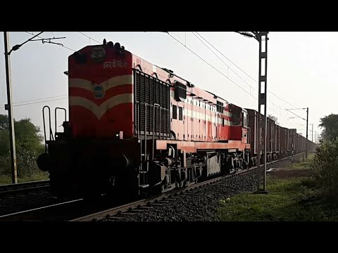 Morning Glory : Red Alco with Goods Train Rapidly Speeding #IndianRailways