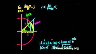 İspat: x = 0'da lim (sin x)/x (Kalkülüs) Video