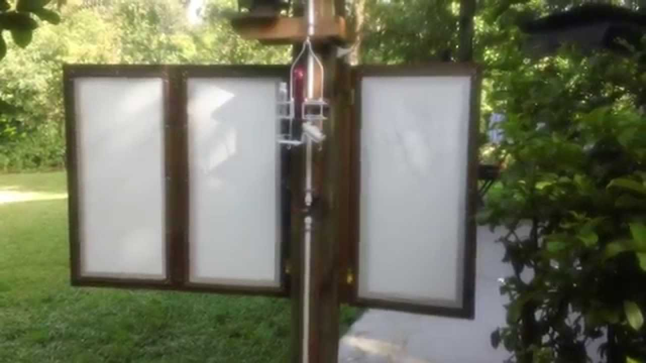 Woodwind Acres outdoor shower privacy panels intallation ...