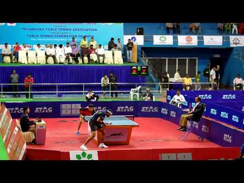 Achanta Sharath Kamal Vs Sanil Shetty Quarter Finals, 77th Senior Nationals TT Championship