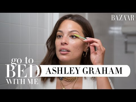 Ashley Graham's Nighttime Skincare Routine | Go To Bed With Me | Harper's BAZAAR