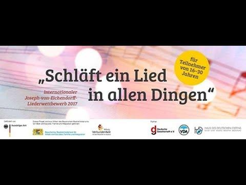 Preisverleihung des Joseph von Eichendorff Liederwettbewerbs
