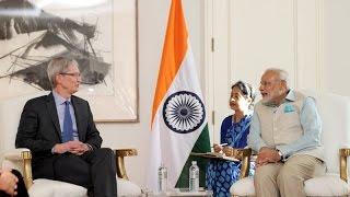 PM Modi meets CEO of Apple Inc, Tim Cook in San Jose, California