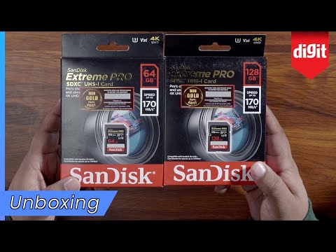SanDisk Extreme PRO 128GB / 64GB SDXC UHS-I Card Unboxing - Get These When Shooting 4K Video!