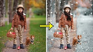 Photoshop Tutorial | How to Make Winter Snow Effect in Photoshop