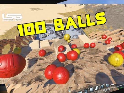 Space Engineers - 100 BALLS ! Massive Slope (Testing)