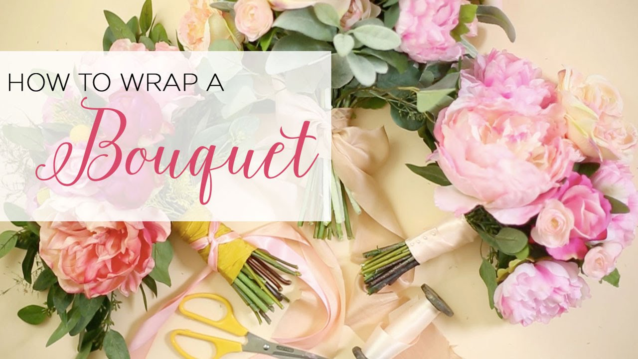 How To Wrap A Bouquet - YouTube