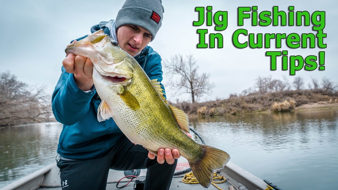 Bass fishing in rivers jig fishing tips youtube for Youtube bass fishing