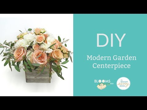 How to Make a Modern Garden Centerpiece