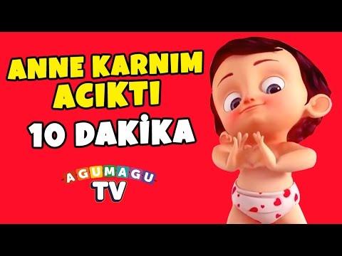 Anne Karnım Acıktı Şarkısı 10 Dk ( Altyazılı - Yeni Versiyon) - Çocuk Şarkıları 2016