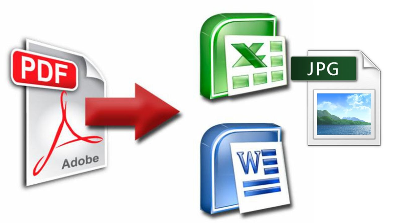 How To Convert pdf file to word, Excel, powerpoint, jpg ...