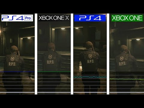 Resident Evil 2 | Xbox One X vs PS4 Pro vs PS4 vs ONE | Framerate Test